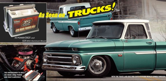 Chevy C-10 on TRUCKS!  Powerd by XS Power S925!
