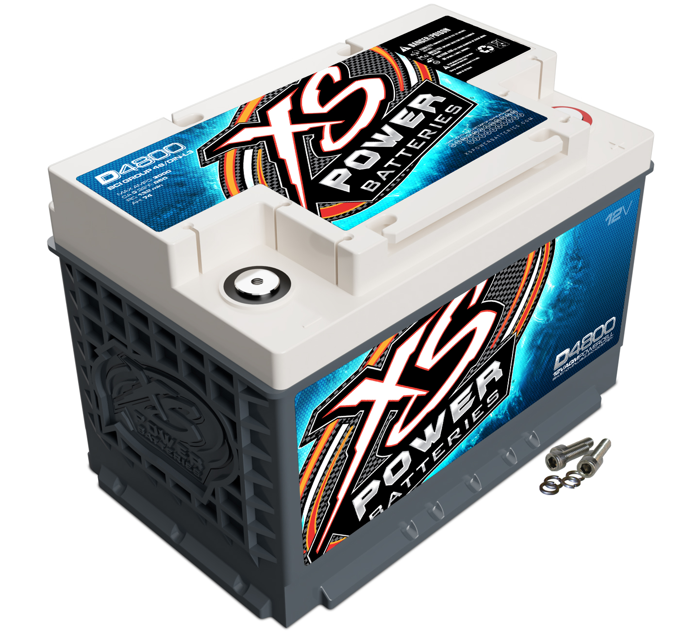 XS Power D4800 Battery AGM Deep Cycle Starting 12V 950 Cranking Amps For Cars