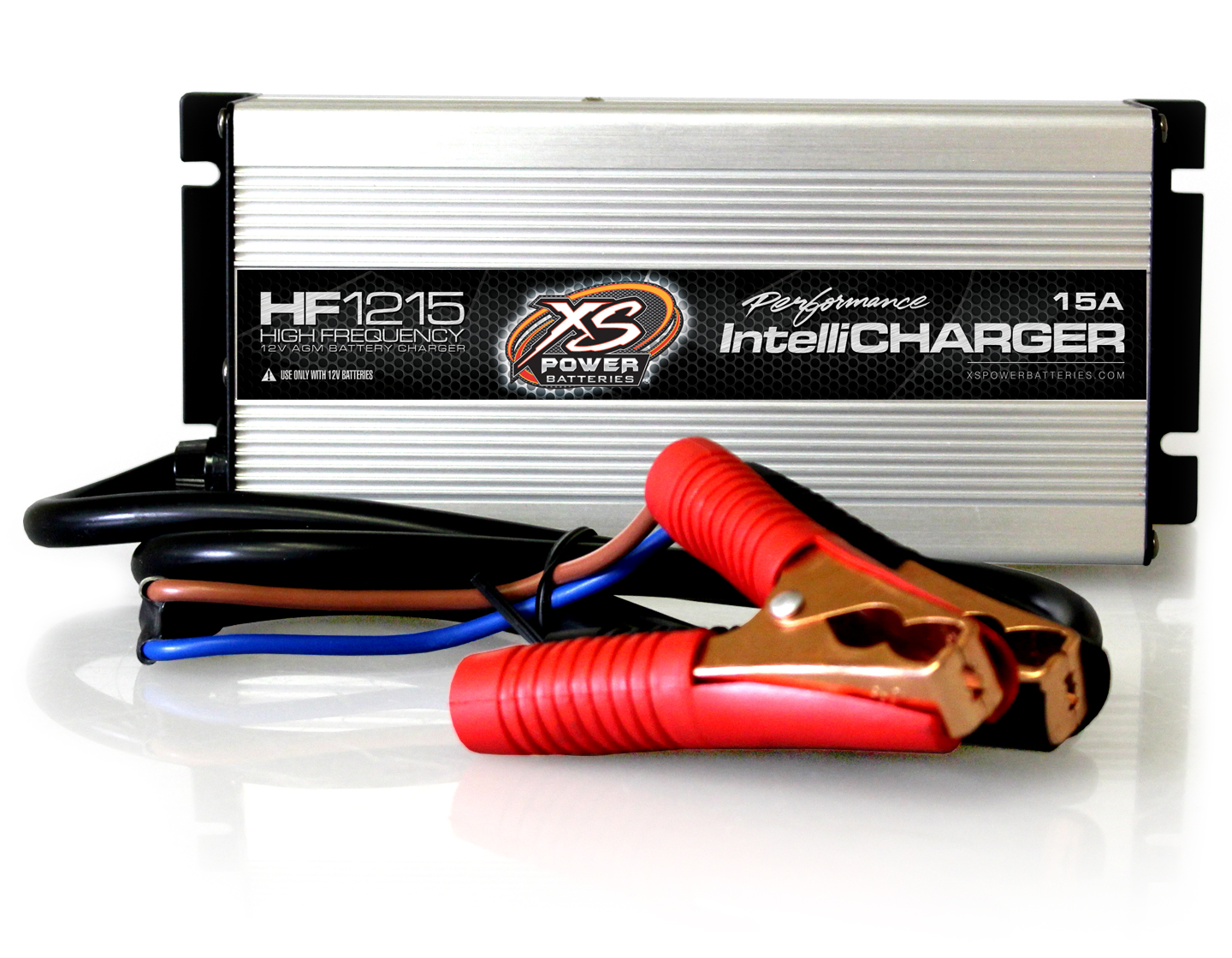 XS Power HF1215 12V High Frequency AGM IntelliCharger, 15A For Cars