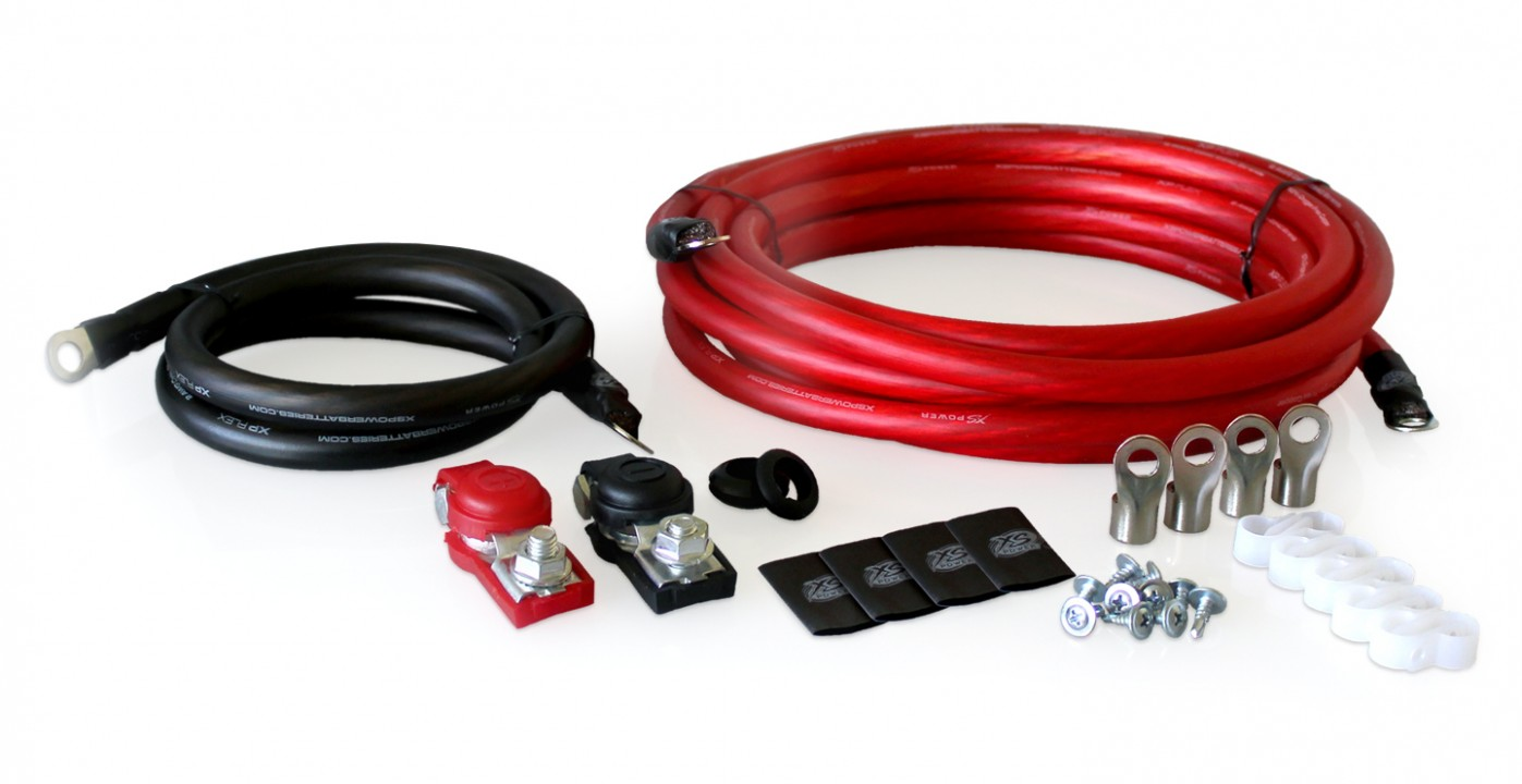 XS Power RK2GA-1 XP Flex, 2 AWG, Single Battery, Racing Cable Kit For Cars