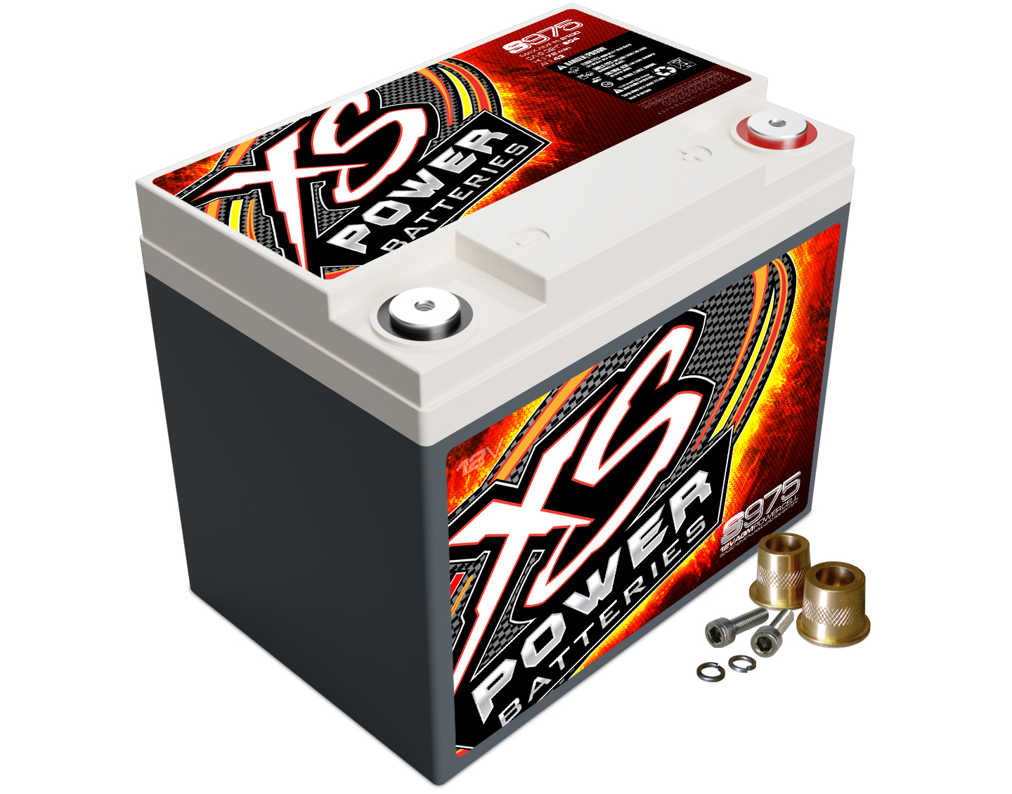 XS Power S975 Battery 12 V AGM 604 Cranking Amps at 32 Degrees For Cars