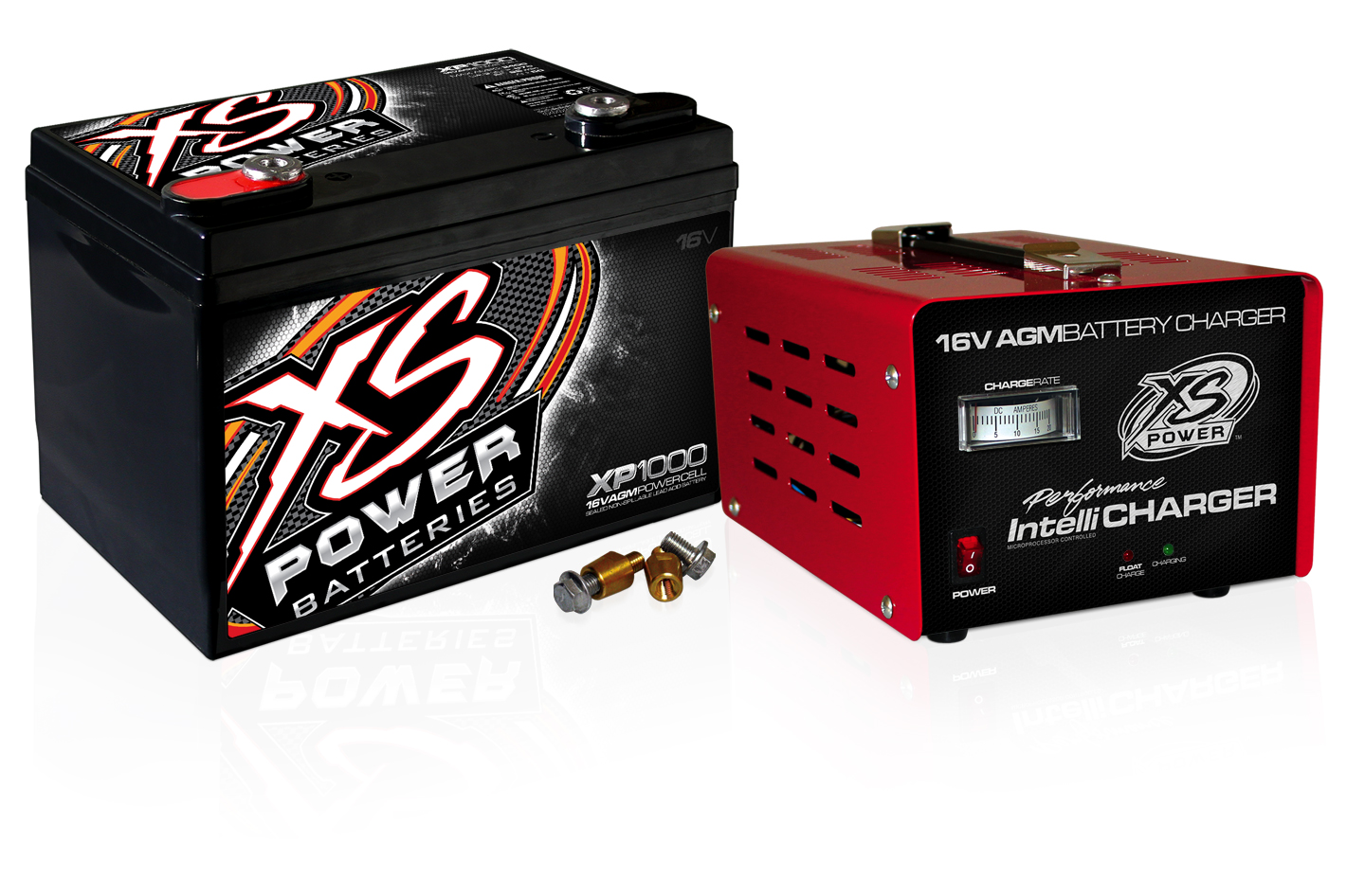 XS Power XP1000CK2 16V Battery and 16V 15 Amp IntelliCharger CombonFor Cars