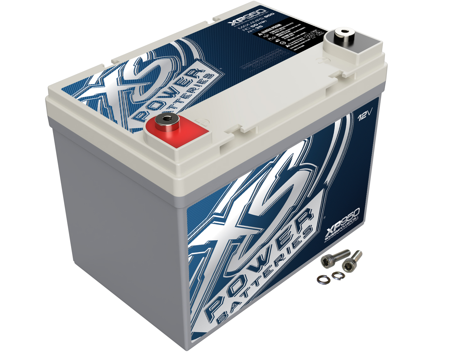 XS Power XP950 Battery AGM Deep Cycle 12 V Top Terminals For Cars